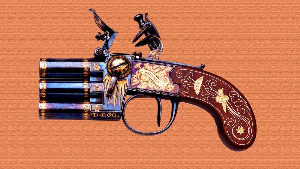 Napoleons Emperor Three Chamber Pistol Marengo wallpaper