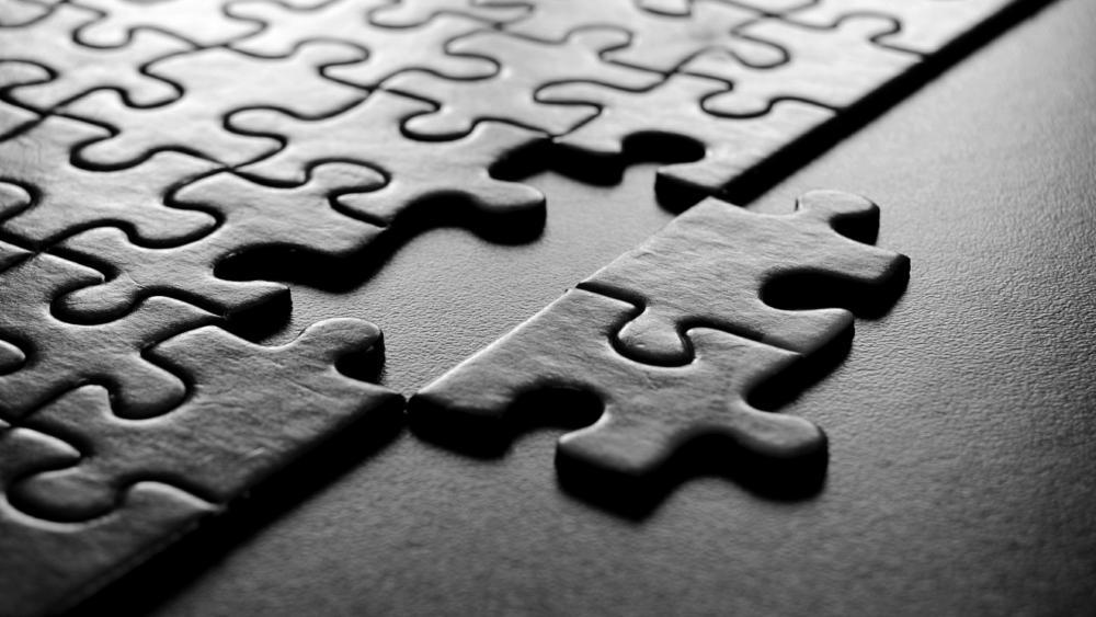 Black Puzzle wallpaper