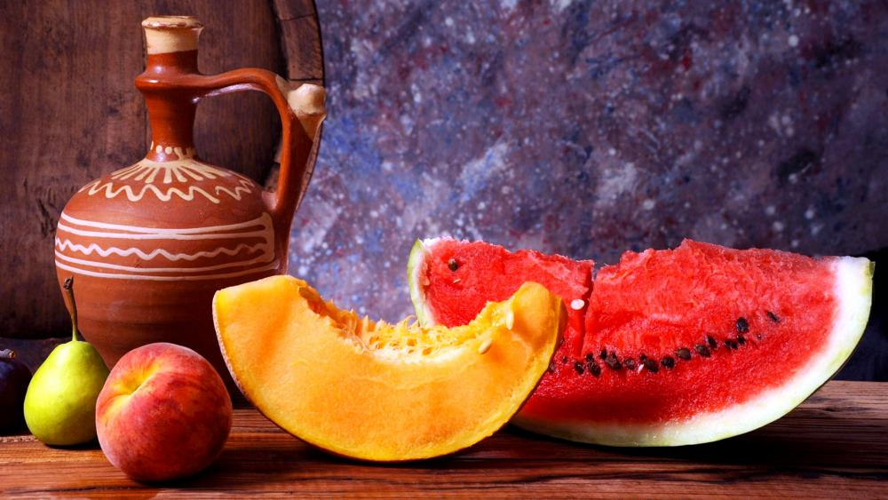 Fruits And Wine wallpaper