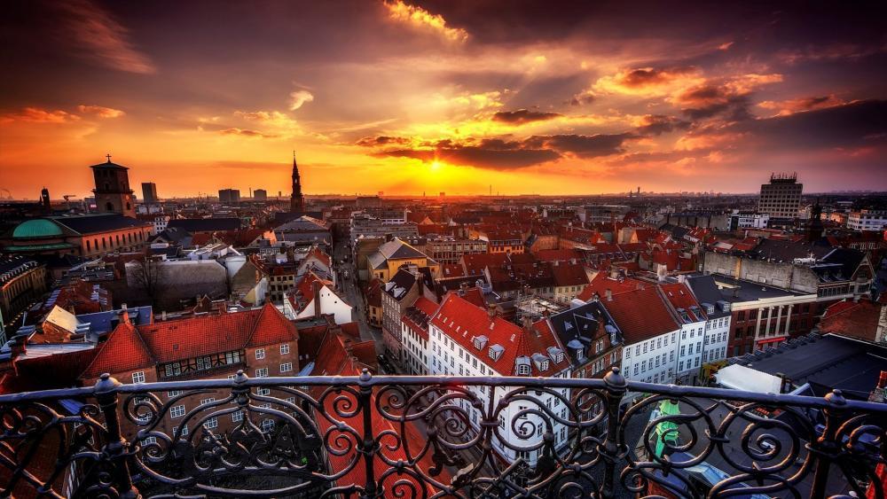 Copenhagen skyline wallpaper
