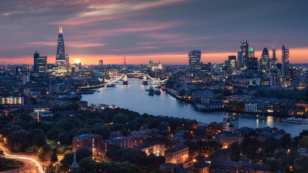 London cityscape wallpaper