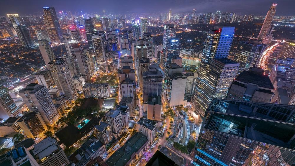 Hong Kong citylights wallpaper