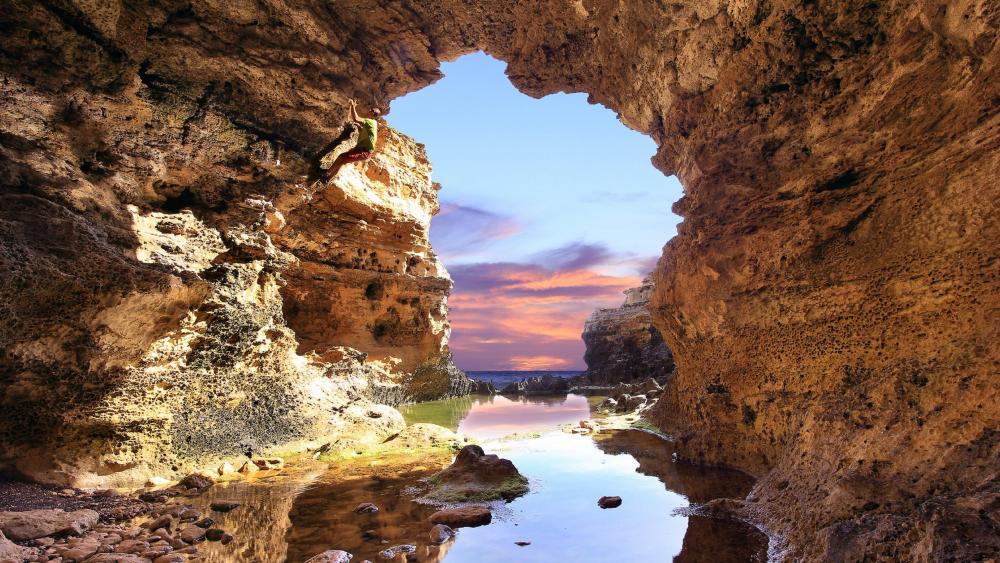 Seaside Cave wallpaper