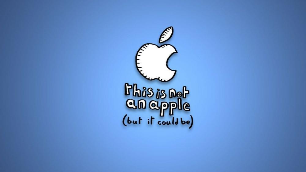 Not apple wallpaper