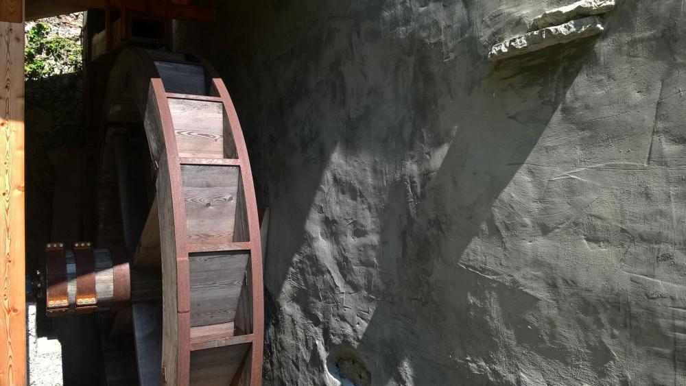 Old watermill wallpaper