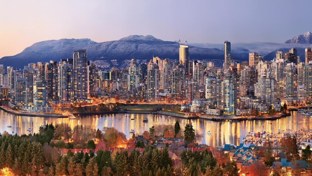 Panoramic view of Vancouver wallpaper