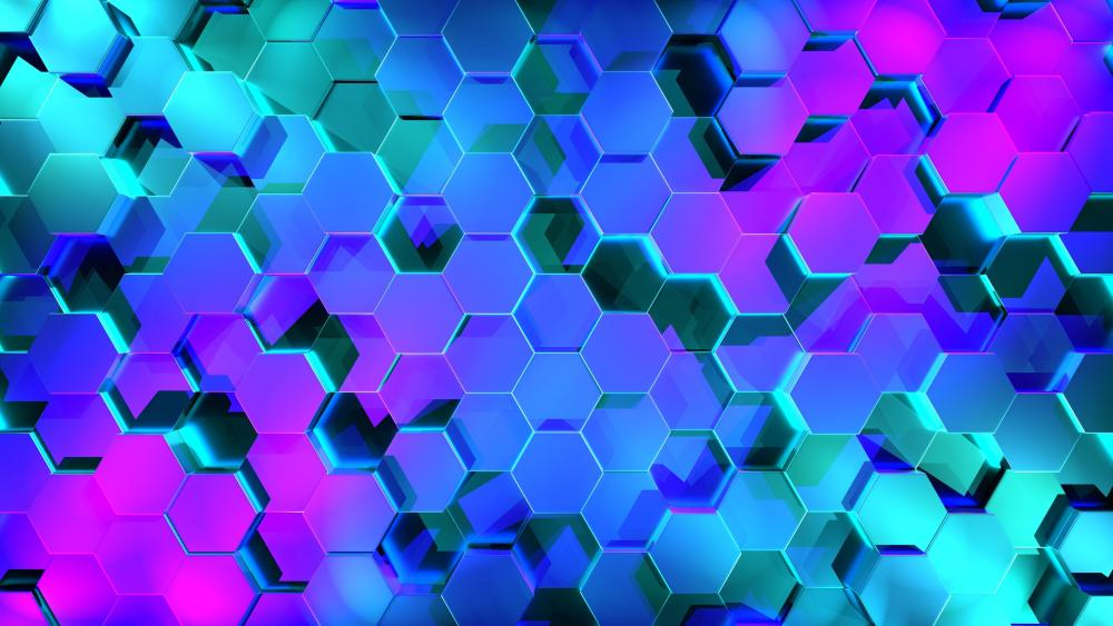 3D Honeycomb pattern wallpaper