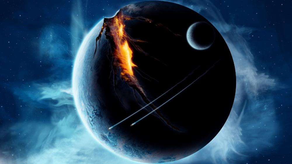 Planet fission wallpaper