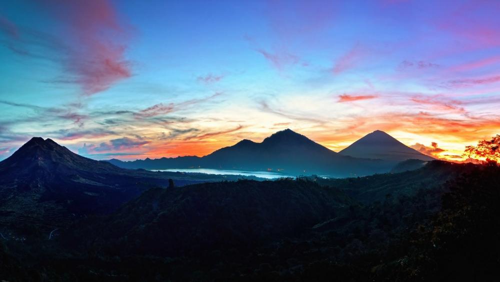 Sunrise in Bali wallpaper