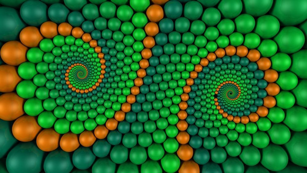 3D Bubble fractal wallpaper