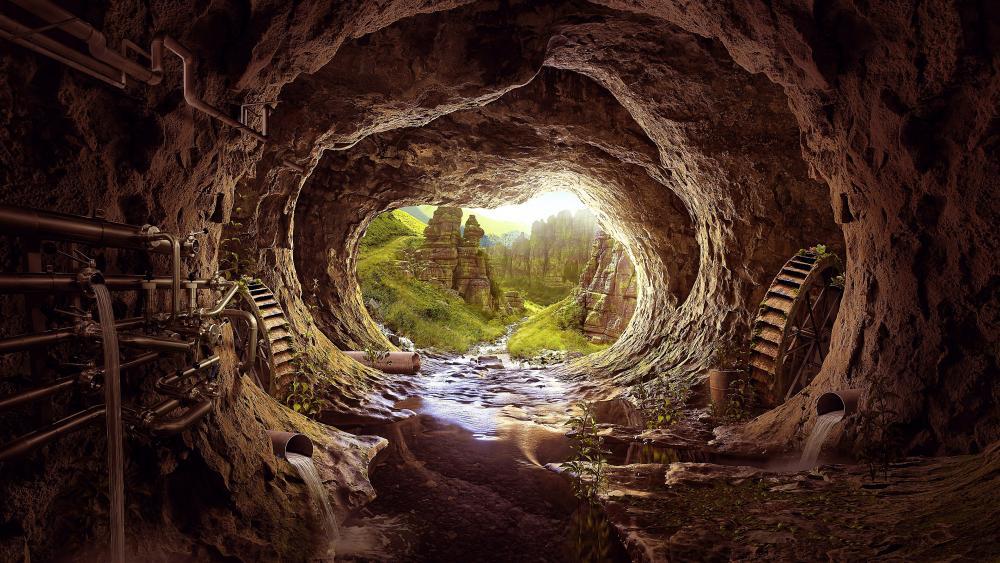 Heaven Tunnel wallpaper
