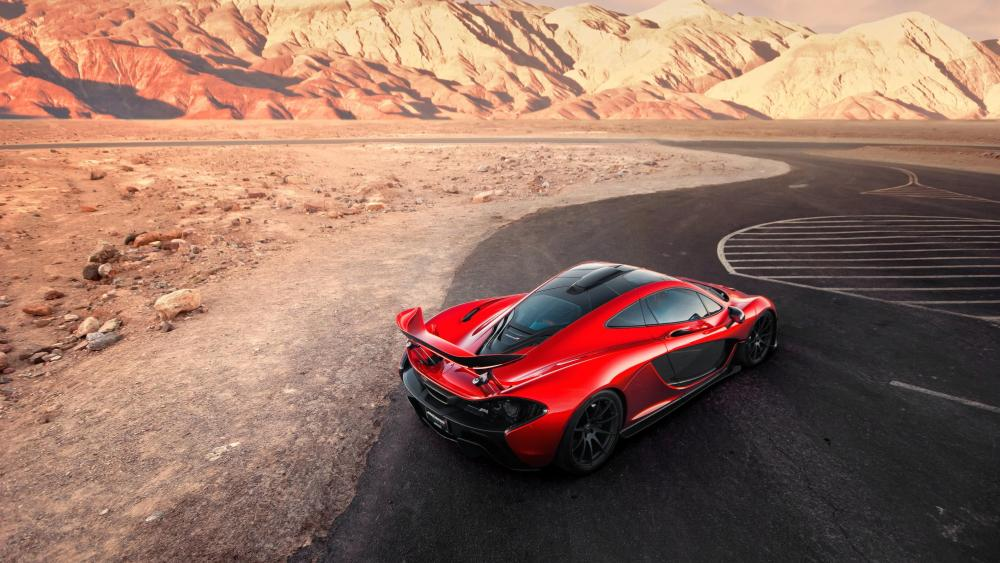 McLaren P1 in Death Valley National Park wallpaper