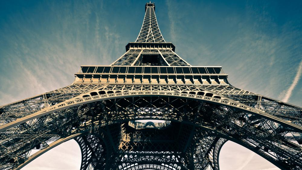 Eiffel Tower low angle view wallpaper