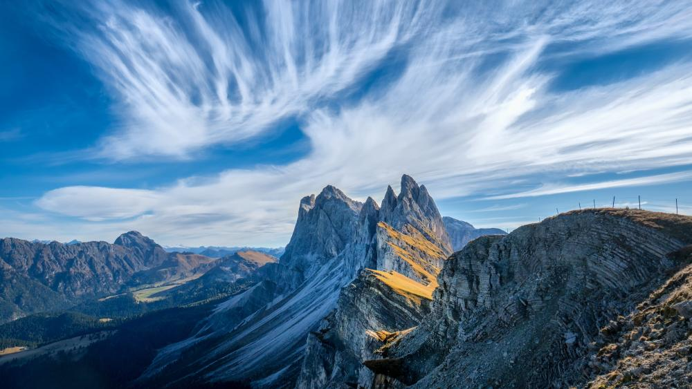 Odle Mountains (Dolomites, Italy) wallpaper
