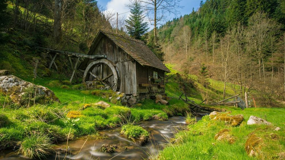 Old mill in the Black Forest (Reichenbach, Germany) wallpaper