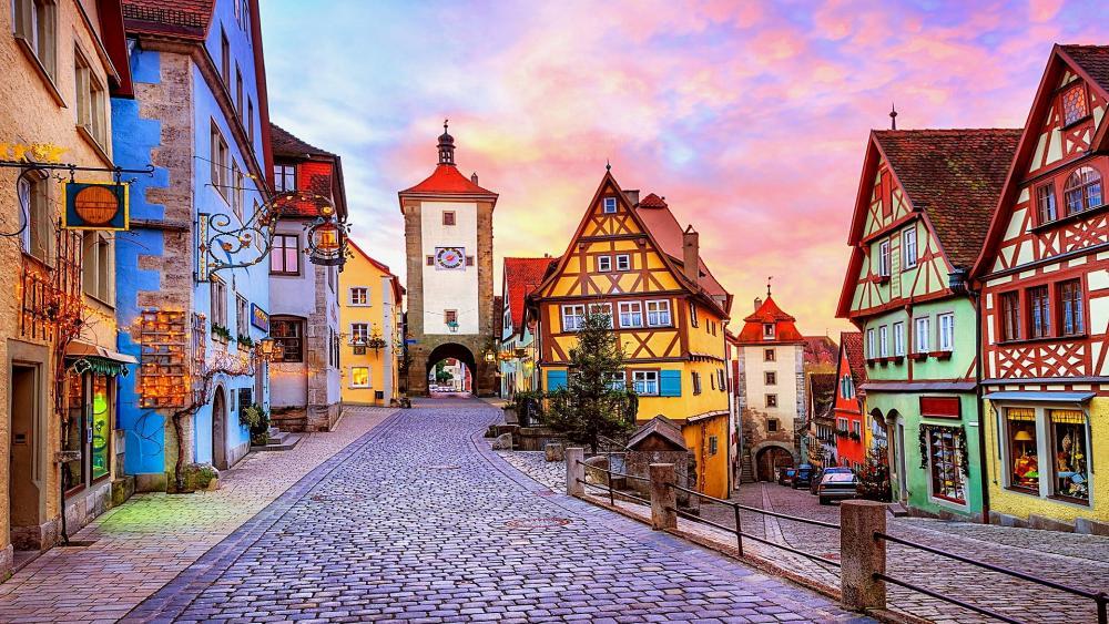 Rothenburg ob der Tauber, Bavaria, Germany wallpaper