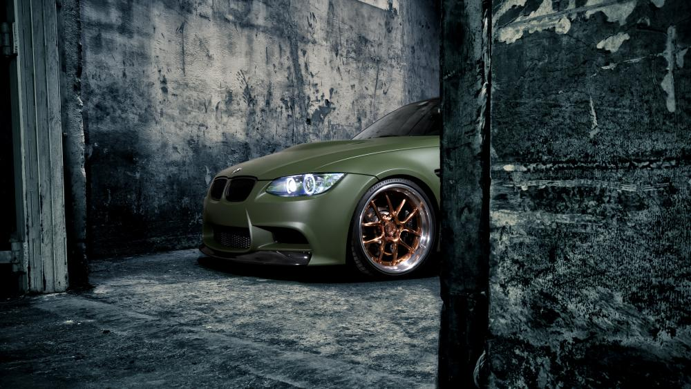 Matte Green BMW M3 wallpaper