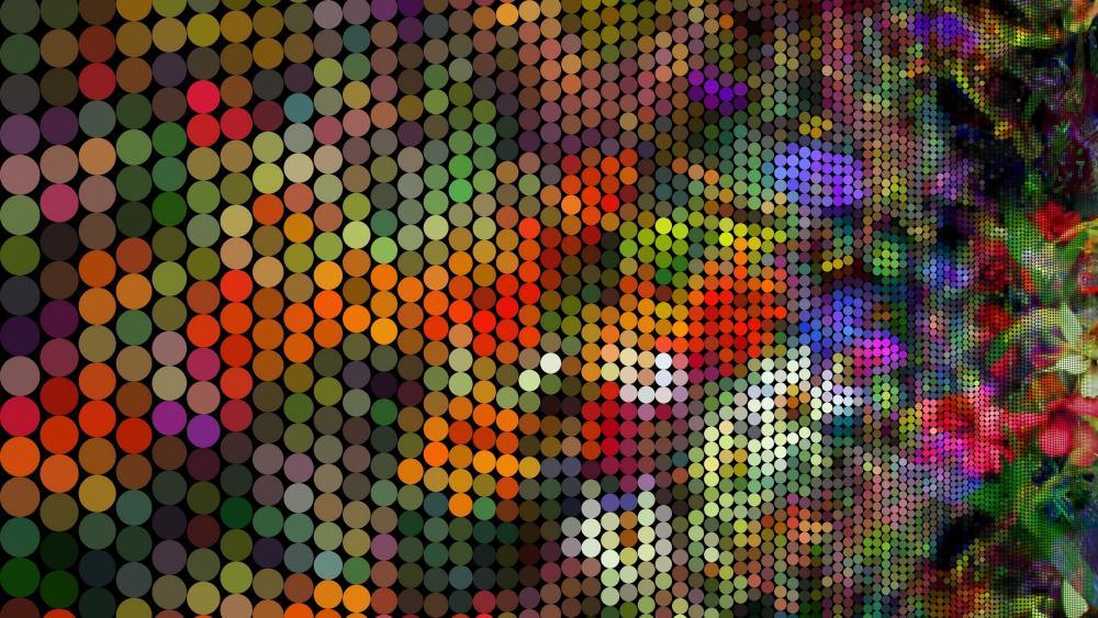 Flowers Pixel Art wallpaper