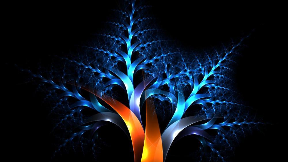 Interweaving trees - Digital artwork wallpaper