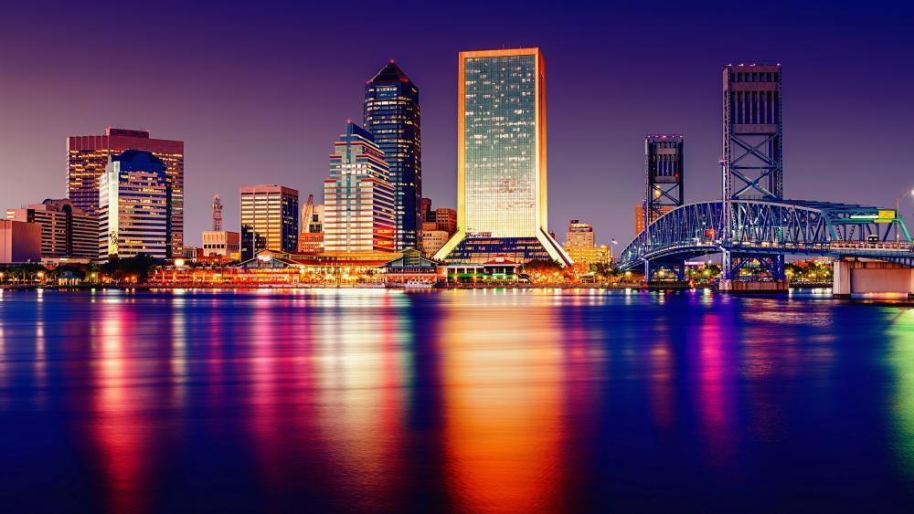 Jacksonville at night wallpaper