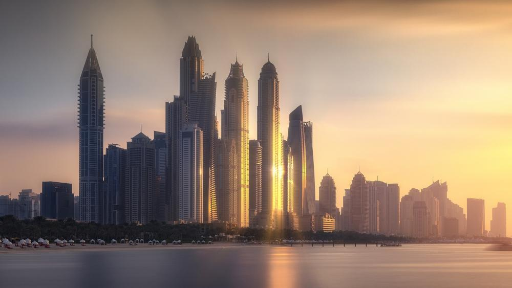 Dubai Marina skyscrapers wallpaper