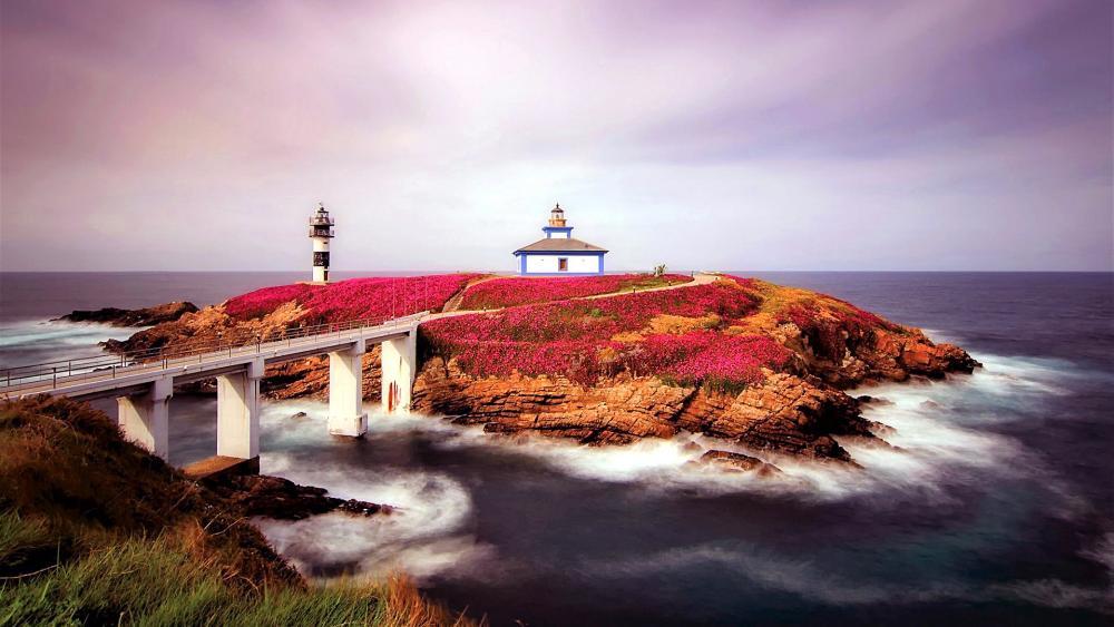 Illa Pancha Lighthouse wallpaper