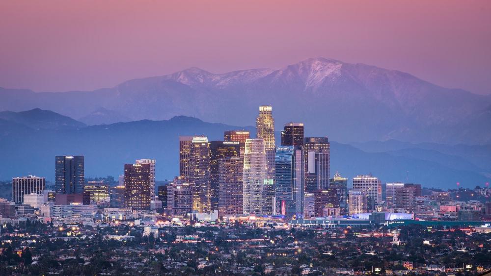 Skyscarpers of Los Angeles wallpaper