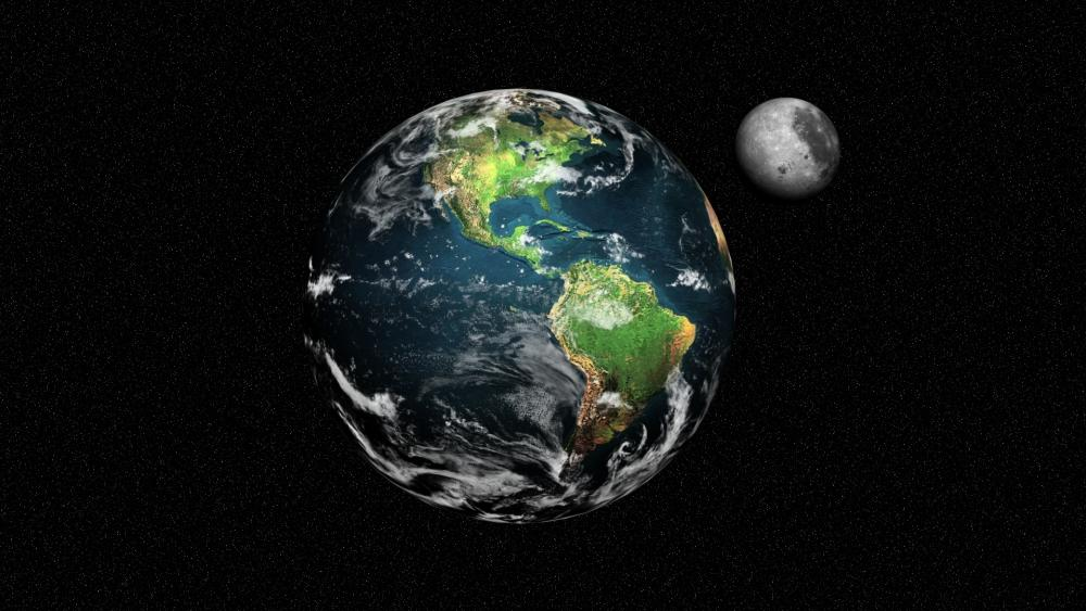 The Earth and the Moon wallpaper