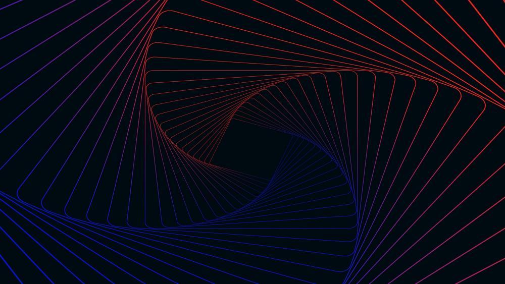3D Spiral pattern wallpaper