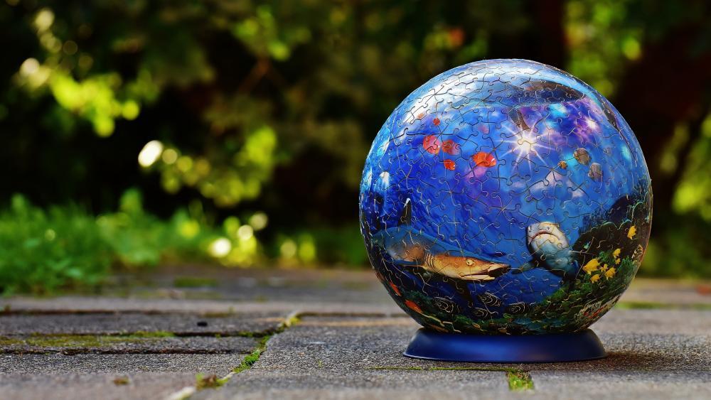 Puzzle globe wallpaper