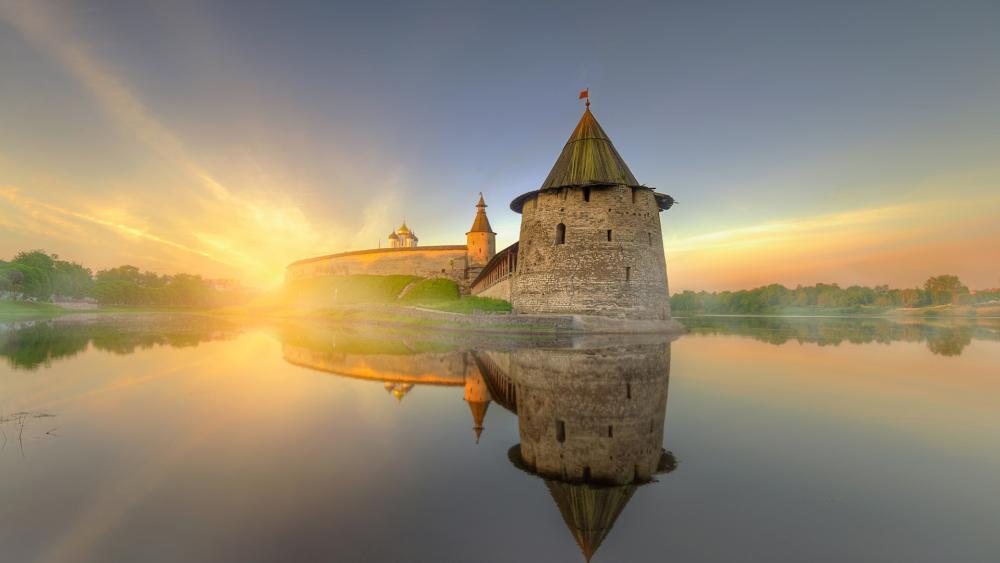 Pskov Krom (Russia) wallpaper