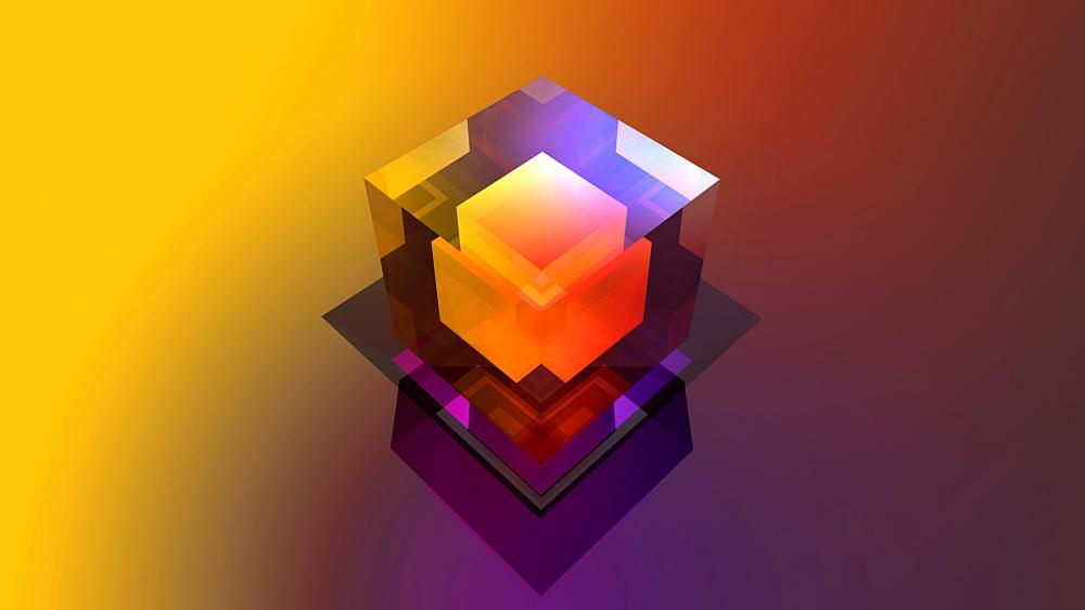 Colorful 3D Cube wallpaper