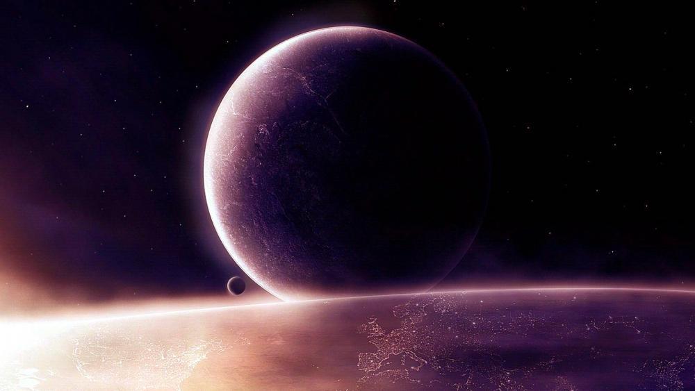 Planet art wallpaper