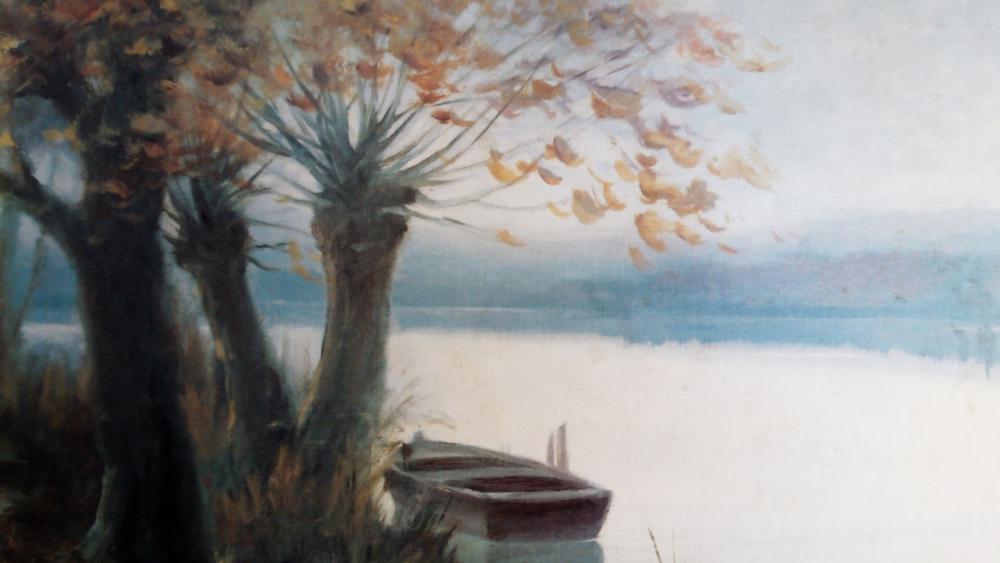 A unique painting wallpaper