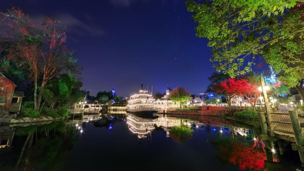 Mark Twain Riverboat (Disneyland) wallpaper
