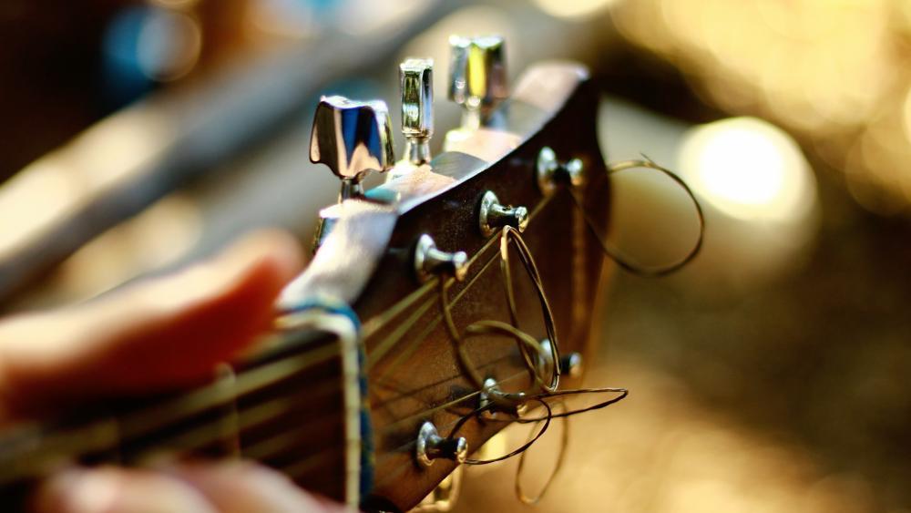 Guitar fingerboard strings wallpaper