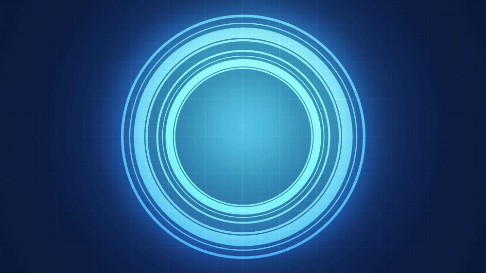 Blue glowing circles wallpaper