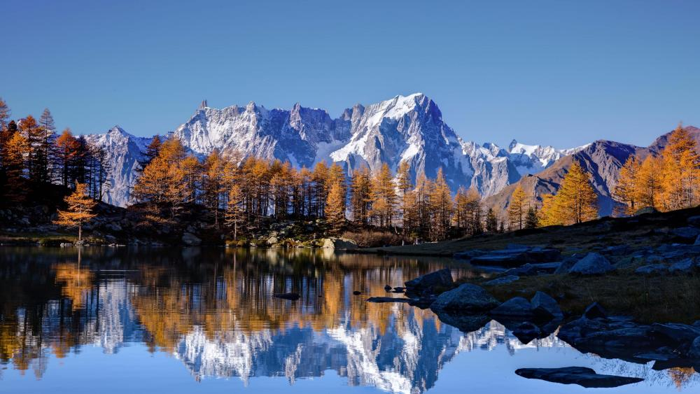 Mont Blanc reflection wallpaper