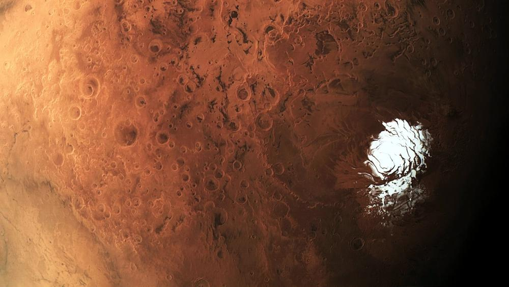 South pole of Mars wallpaper