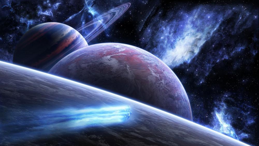 Universe space art wallpaper