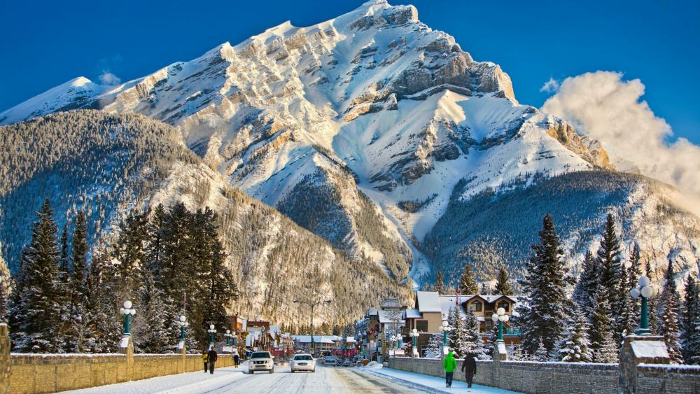 Winter in the Town of Banff wallpaper