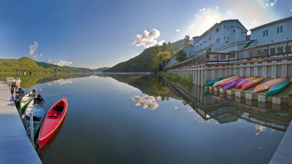 Lake Morey Resort wallpaper