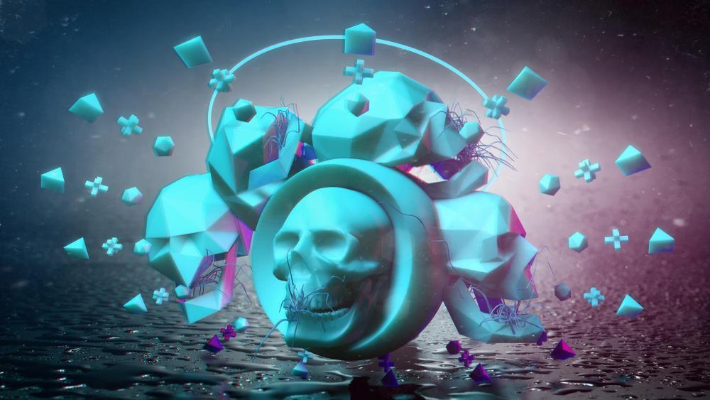 3D Skulls wallpaper