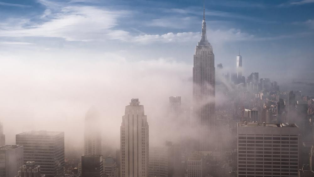 Empire State Building Art Deco skyscraper wallpaper