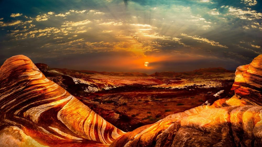 Fire Wave (Valley of Fire State Park) wallpaper