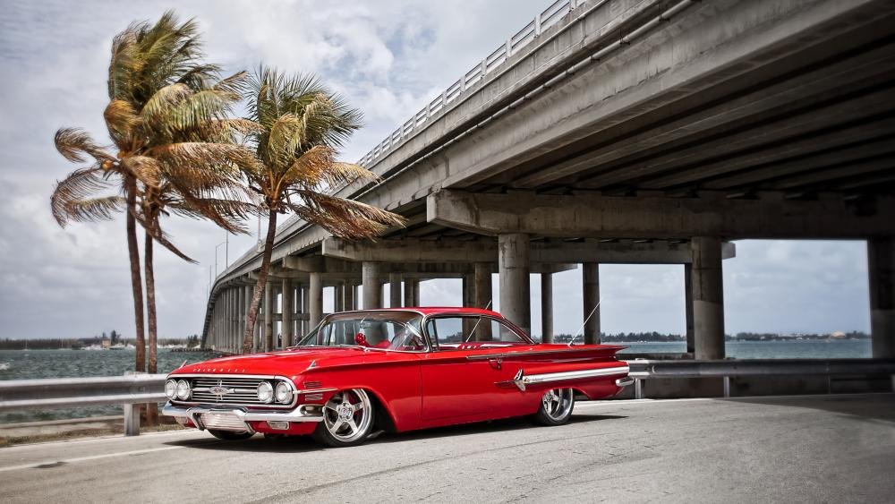 Red Chevrolet Impala wallpaper