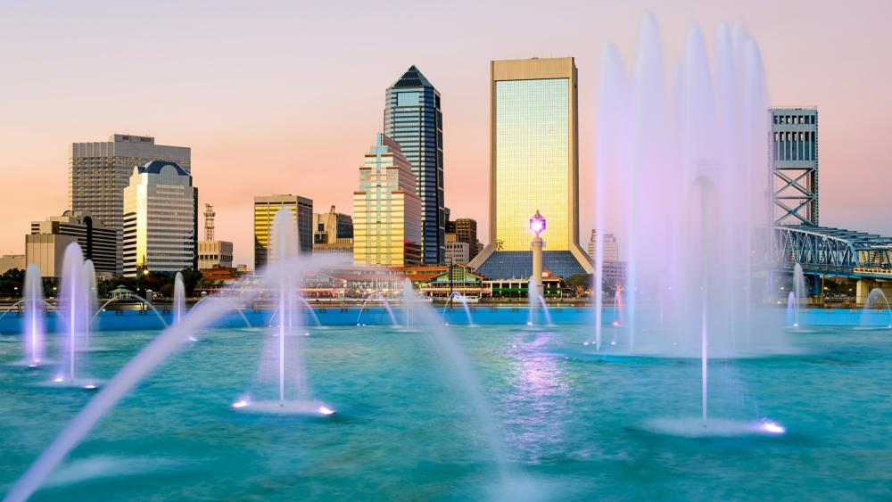 Friendship Fountain (Jacksonville) wallpaper