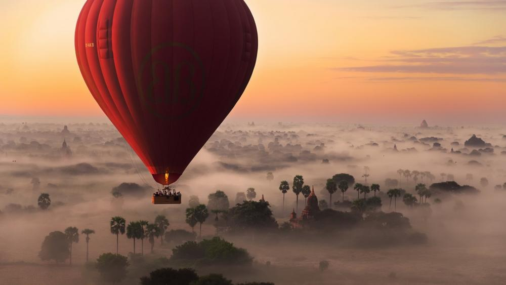 Balloon Flight over Burma wallpaper
