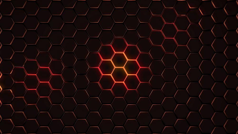 Honeycomb network wallpaper