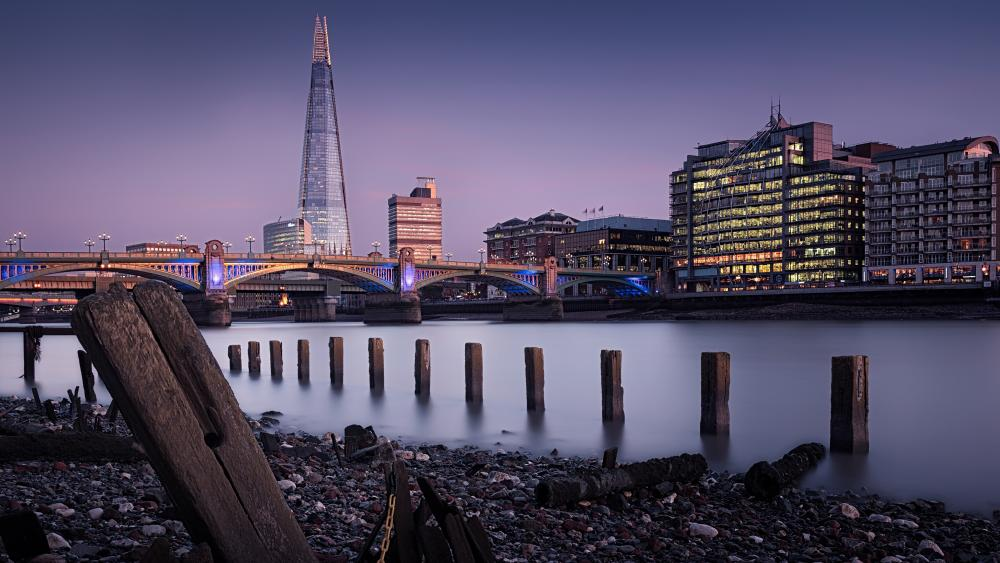 The  Shard and London Bridge (London) wallpaper
